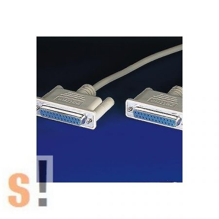 11.01.5118 # Soros null modem kábel/RS-232/DB25 mama-DB25 mama/1,8 méter, Roline