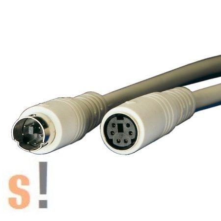 11.01.5630 # PS/2 egér/billentyűzet hosszabbító kábel/1,8 méter/MiniDin6M - MiniDin6F, Roline