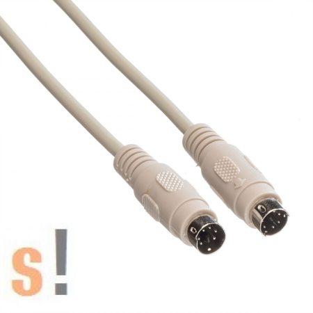 11.01.5818  # PS/2 billentyűzet vagy egér kábel/ PS/2 papa - PS/2 papa csatlakozó/ 1,8 méter, Roline