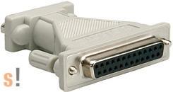 12.03.6510R # DB9 papa - DB25 mama adapter, Roline