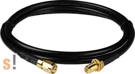 3S001-3 # Antenna kábel/RG58A/U/SMA male/RP-SMA Female/3 méter, ICP DAS, ICP CON