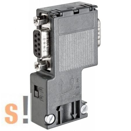 6ES7 972-0BB12-0XA0 # Profibus busz csatlakozó PG szerviz  csatlakozóval/ SIMATIC DP PROFIBUS Nodes to Bus Cable with PG socket