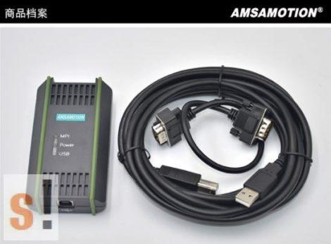 6ES7972-0CB20-0XA0 # Siemens S7-200/300/400 PLC DP/MPI szigetelt programozó kábel, AMSAMOTION