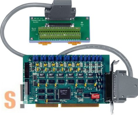 A-626/S # ISA kártya/ISA Board/6x AO/12bit/16x DI/16x DO/DB-37-sorkapocs, ICP DAS, ICP CON