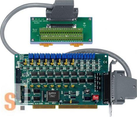 A-628/S # ISA Board/8x AO/12bit/16x DI/16x DO/DB-37 sorkapocs, ICP DAS, ICP CON