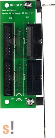 ADP-20/PCI # Slot Adapter/PCI/20X20pin/CA-2002, ICP DAS, ICP CON