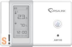"""AM100 # LoRaWAN Ambient Monitor Sensor/2.13"""" E-Ink Display/Hőmérséklet/Páratartalom/Megvilágítás/Mozgás/ URSALINK"""