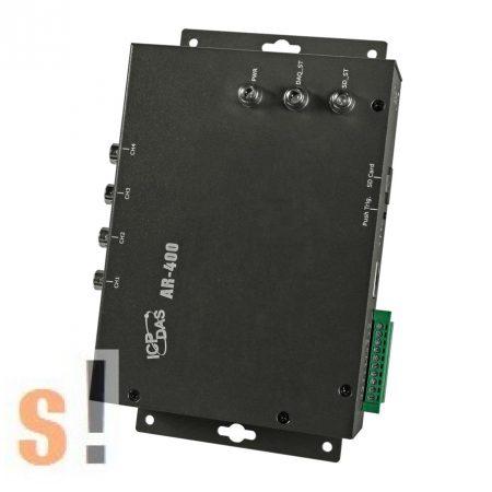 AR-400 # Gyorsulásmérő/Vibráció analízis/Adatgyűjtő/Accelerometer/Data Logger/4*AI/2*DI/1*Relé/LAN, ICP DAS