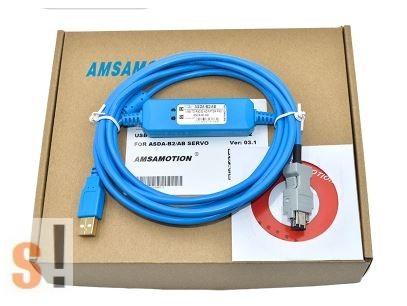 ASDA-B2/AB/A2 # Delta Servo Drive programozó kábel/USB port/Servo port/2,5 méter, AMSAMOTION