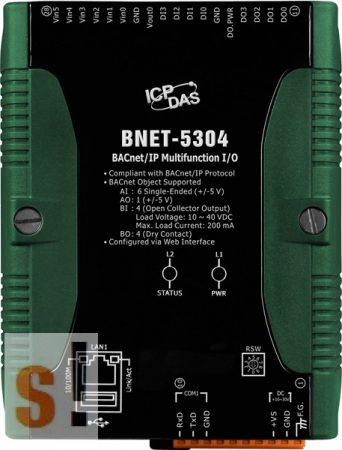 BNET-5304 CR # I/O Modul/BACnet/IP/6AI/1AO/4DI/4DO, ICP DAS