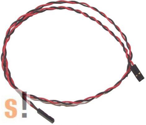 CA-0205 # Kábel/2pin/Black & Red/0.5m, ICP DAS, ICP CON
