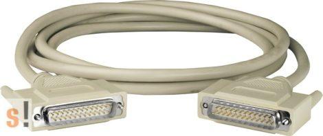 CA-2520D # Kábel/25pin/flat/male-male/D-Sub/2m/180º, ICP DAS, ICP CON