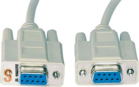 CAB-09GG/2 # Soros kábel/RS-232/DB9 mama-DB9 mama/2 méter/ AK-610106-020-E/