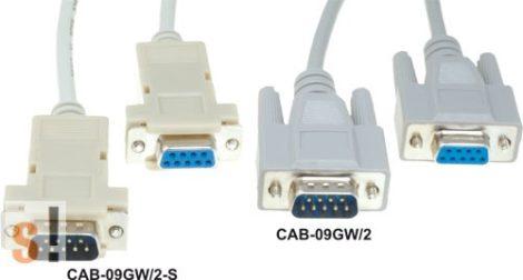 CAB-09GW/2-S # Soros kábel/RS-232/DB9 mama-DB9 papa/1,8 méter/szerelhető csatlakozóház