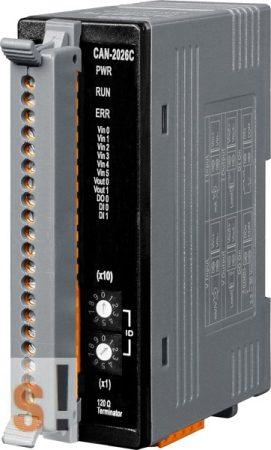 CAN-2026C # I/O Module/CANopen/Slave/6AI/2AO/2DI/1DO, ICP DAS