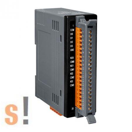 CAN-2060C # I/O Modul/CANopen/Slave/4DI/4 relé kimenet/LED, ICP DAS