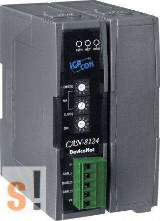 CAN-8124-G # Remote I/O ház/DeviceNET/Slave/1 férőhely, ICP DAS