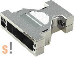CDA0925V # 9-25 D-SUB ház/UNC4-40 csavar/ árnyékolt/ műanyag/ ezüst szín, NINIGI
