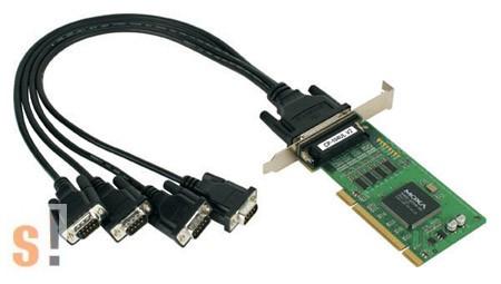 CP-104UL/DB9M # UPCI kártya/4x RS-232 port/DB9 csatlakozók/15kV ESD, MOXA