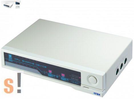 CS-221 # Számítógép megosztó/1 PC - 2 konzol (monitor-billentyűzet-egér/gyári csomagolás nélkül, Aten