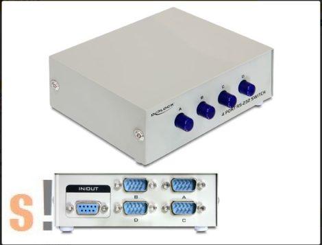 D87589 # Soros RS-232 átkapcsoló, kézi, 4 port, DELOCK