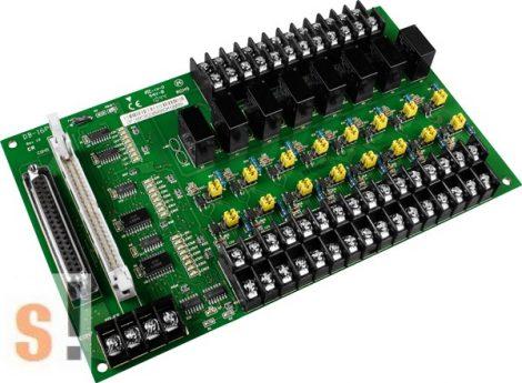 DB-16P8R/D/DIN CR # OPTO-22 kompatibilis bővítő kártya/szigetelt 16x DI/6x RO relé kimenet/CA-3710 DB-37 csatlakozós kábel/DIN sínre/ ICP CON, ICP DAS