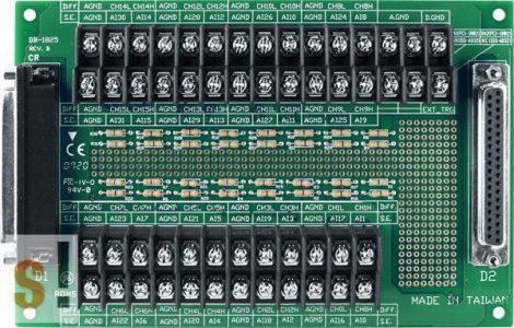 DB-1825/2/DIN CR # Sorkapocs bővítő kártya/PCI-1202/1602/1802/822/826 kártyákhoz/CA-3720 kábel/DIN sínre rögzíthető/ ICP CON ICP DAS