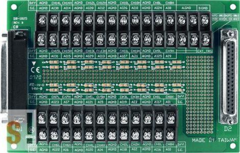 DB-1825/DIN CR # Sorkapocs bővítő kártya/PCI-1202/1602/1802/822/826 kártyákhoz/CA-3710 kábel/DIN sínre rögzíthető/ ICP CON ICP DAS