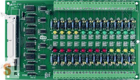 DB-24PD/DIN CR # OPTO-22 kompatibilis bővítő kártya/szigetelt 24x DI digitális bemenet/CA-3710 DB-37 pin csatlakozós kábel/DIN sínre rögzíthető/ ICP CON, ICP DAS