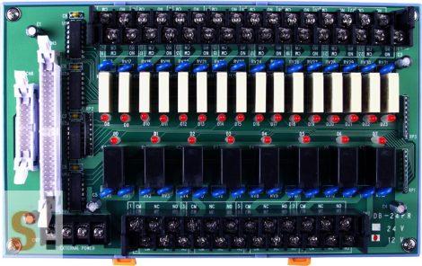 DB-24PR/12/DIN CR # OPTO-22 kompatibilis bővítő kártya/Daughter Board/Relé/24x RO relé kimenet/12V/CA-5015 kábel/DIN sínre rögzíthető/ICP CON, ICP DAS