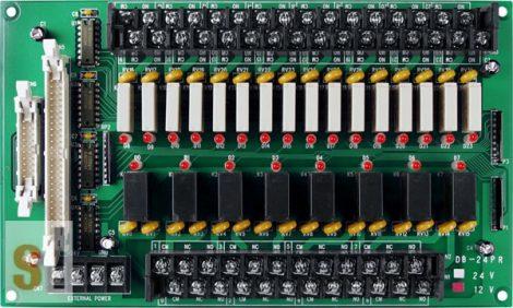 DB-24PR/24 CR # OPTO-22 kompatibilis bővítő kártya/Daughter Board/Relé/24x RO relé kimenet/24V/CA-5015 kábel/ICP CON, ICP DAS