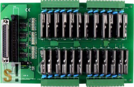 DB-24SSRDC/D  # OPTO-22 kompatibilis relé kártya/24x RO relé kimnet/SSR relék/DC/CA-3710 kábel/ICP CON, ICP DAS