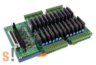DB-24SSR/DIN  # OPTO-22 kompatibilis relé kártya/24x RO relé kimnet/SSR relék/CA-5015 kábel/DIN sínre rögzíthető/ICP CON, ICP DAS