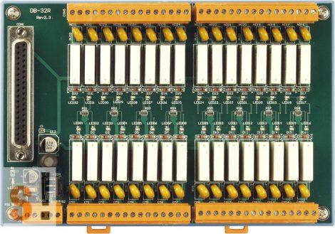 DB-32R CR # Bővítő kártya/Daughter Board/Relé/32x RO/16x DI/16x RO/PISO-C64 vagy ISO-C64 kártyához/ICP CON, CP DAS