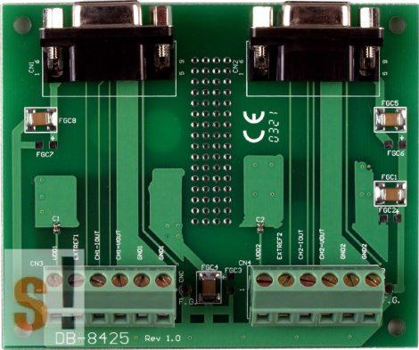 DB-8425 # Külső sorkapocs kártya/Daughter Board/PISO-DA2 kártyához/CA-0915 kábel/DB-9 pin csatlakozók/2 méter/ICP CON, ICP DAS