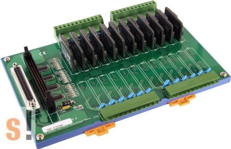DB12SSR/DIN # Opto 22 kompatibilis SSR relé kártya/ Solid State Relay Board/12 Ch/CA-5015/DIN sínre rögzíthető, ICP CON, ICP DAS