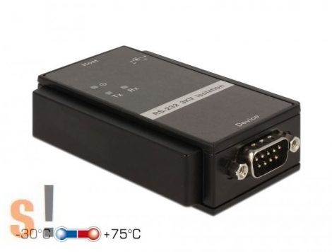 DE62500 # RS-232 - RS-232 optikai leválasztó/3 kV optikai leválasztás/600 W túlfeszültség védelem, DELOCK