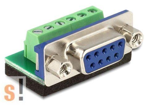 DE65498 # DB9/SUB-D9 mama - sorkapocs adapter, DELOCK
