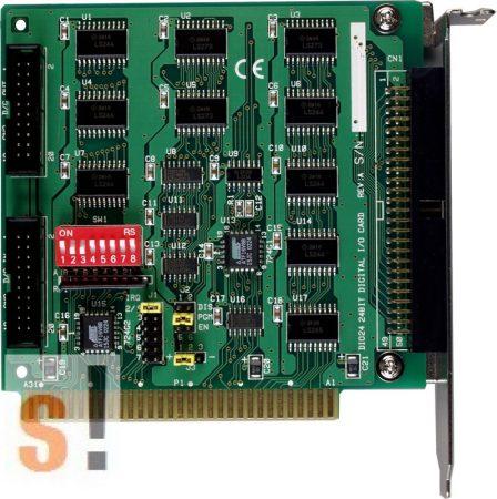 DIO-24 CR # OPTO-22 kompatibilis ISA kártya/24x DI/24x DO/ ICP CON, ICP DAS