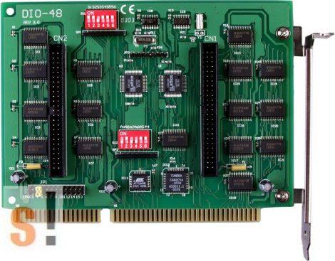 DIO-48 CR # OPTO-22 kompatibilis ISA kártya/48x DI/48x DO/ICP CON, ICP DAS