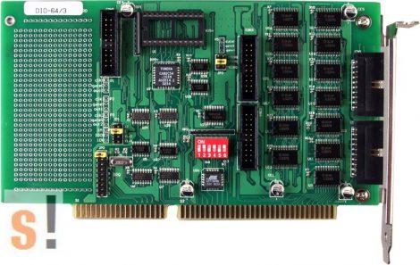 DIO-64/3 # ISA kártya/ 32x DI/32x DO/ 3 Timer/Counter/ ICP CON, ICP DAS
