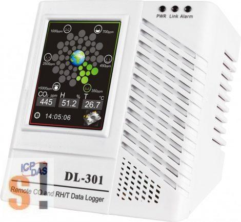 DL-301 # Adatgyűjtő/Data Logger/CO/Hőmérséklet/Páratartalom/Harmatpont/LCD/Safe Alarm, ICP DAS