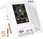 DL-302 # Adatgyűjtő/Data Logger/CO2/Hőmérséklet/Páratartalom/Harmatpont/LCD/Safe Alarm, ICP DAS