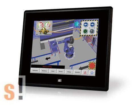 """DM-F65A/R-R10 # 6,5"""" Ipari érintőképernyős monitor/800cd/VGA/DVI/LCD érintőképernyő/USB Touch, IEI"""