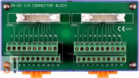 DN-20 CR # Sorkapocs kártya/Screw Terminal Board/2x20 pin/CA-2010 kábel/DIN sínre rögzíthető/ICP CON, ICP DAS