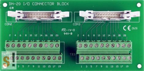 DN-20/N CR # Sorkapocs kártya/Screw Terminal Board/2x20 pin/CA-2010 kábel/ICP CON, ICP DAS
