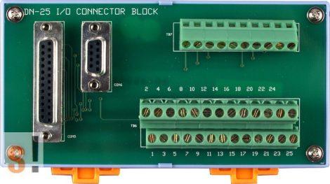 DN-25 CR # Sorkapocs kártya/1x DB9 mama és 1x DB25 mama csatlakozók/CA-0920 és CA-2520 kábel/DIN sínre rögzíthető/ICP CON, ICP DAS