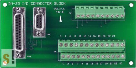 DN-25/N CR # Sorkapocs kártya/1x DB9 mama és 1x DB25 mama csatlakozók/CA-0920 és CA-2520 kábel/ICP CON, ICP DAS