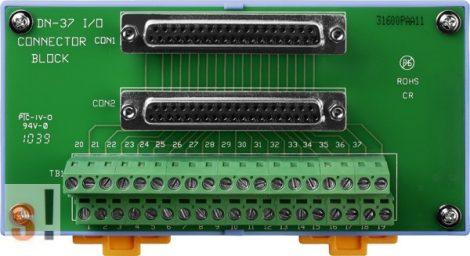 DN-37/2 CR # Sorkapocs kártya/2x DB37 mama csatlakozó/CA-3720 kábel/DIN sínre rögzíthető/ICP CON, ICP DAS