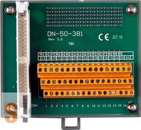 DN-50-381 CR # Sorkapocs kártya/50 pin/CA-5015 kábel/381 mm/DIN sínre rögzíthető/ICP CON, ICP DAS